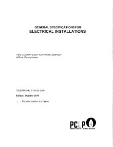 General Specs for Electrical Install
